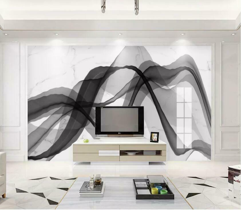 3D Ink Marble N2963 Wallpaper Wall Mural Removable Self-adhesive Sticker Amy
