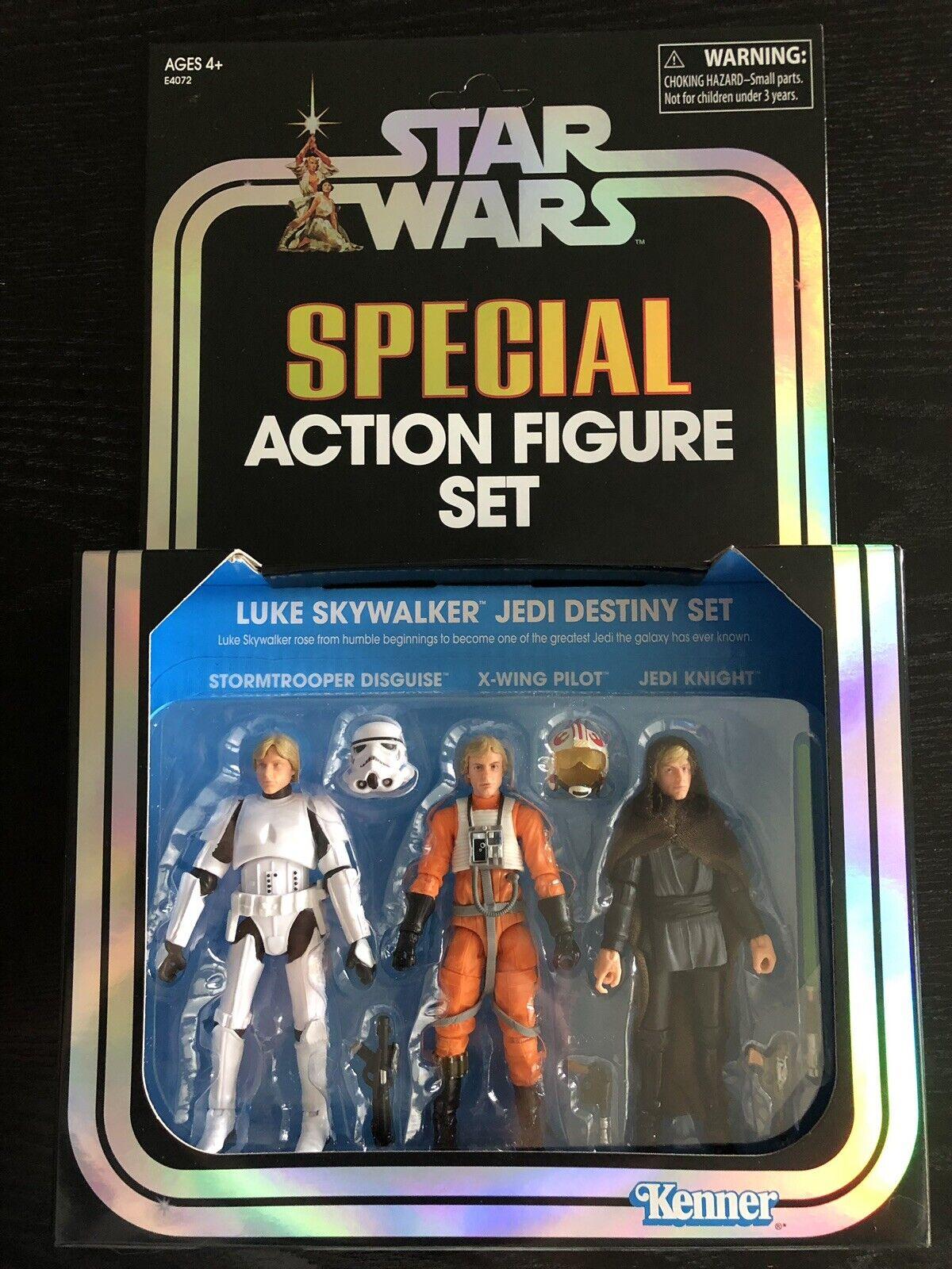 SDCC 2019 COMIC CON Hasbro estrella guerras Luke cielowalker Jedi Destiny 3 Set exclu