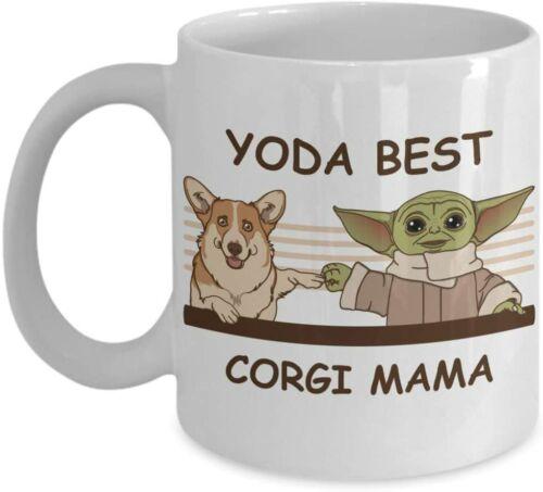 11 Oz Coffee Mug Yoda Best Corgi Mama Novelty Gift Mugs for Corgi Lovers