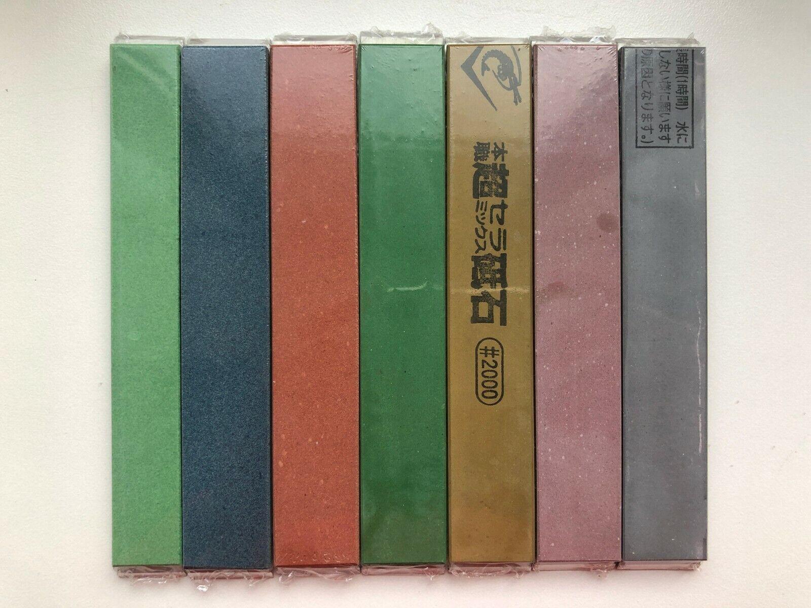 NEUF Naniwa Pro Chosera 7 Stone Set (400-5000) pour hapstone, EdgePro, tsprof