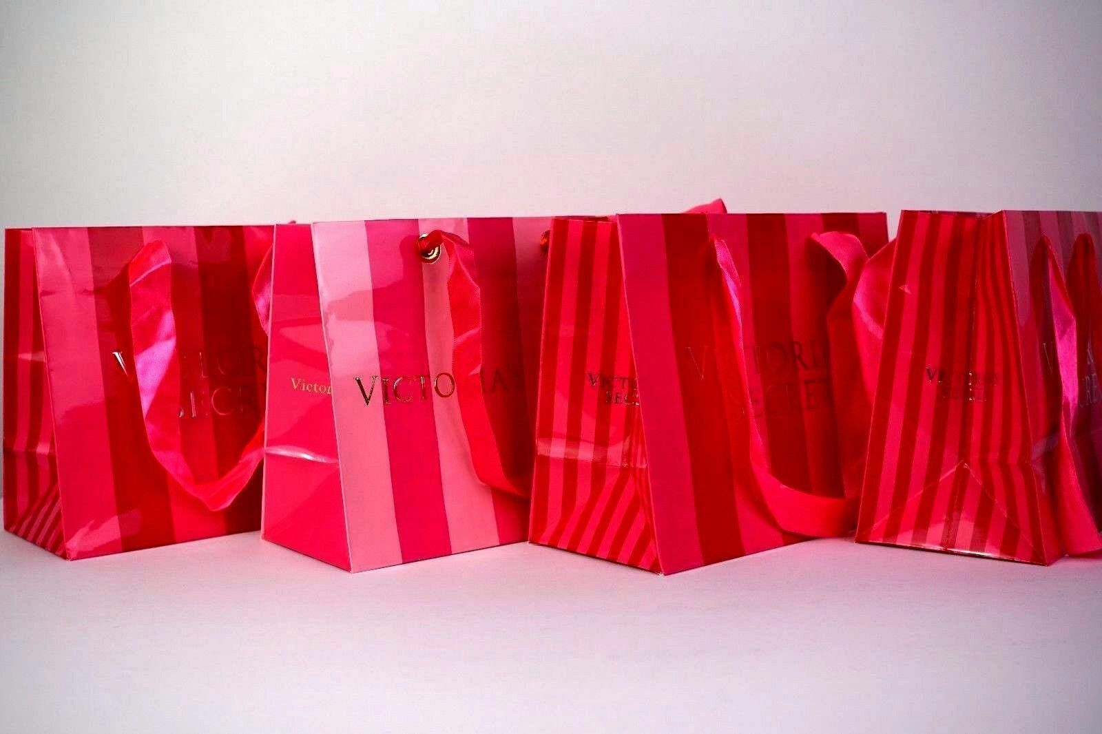 LOT 85 VICTORIA'S SECRET Rosa Rosa Rosa STRIPE PAPER MEDIUM SHOPPING GIFT BAG 7725f9