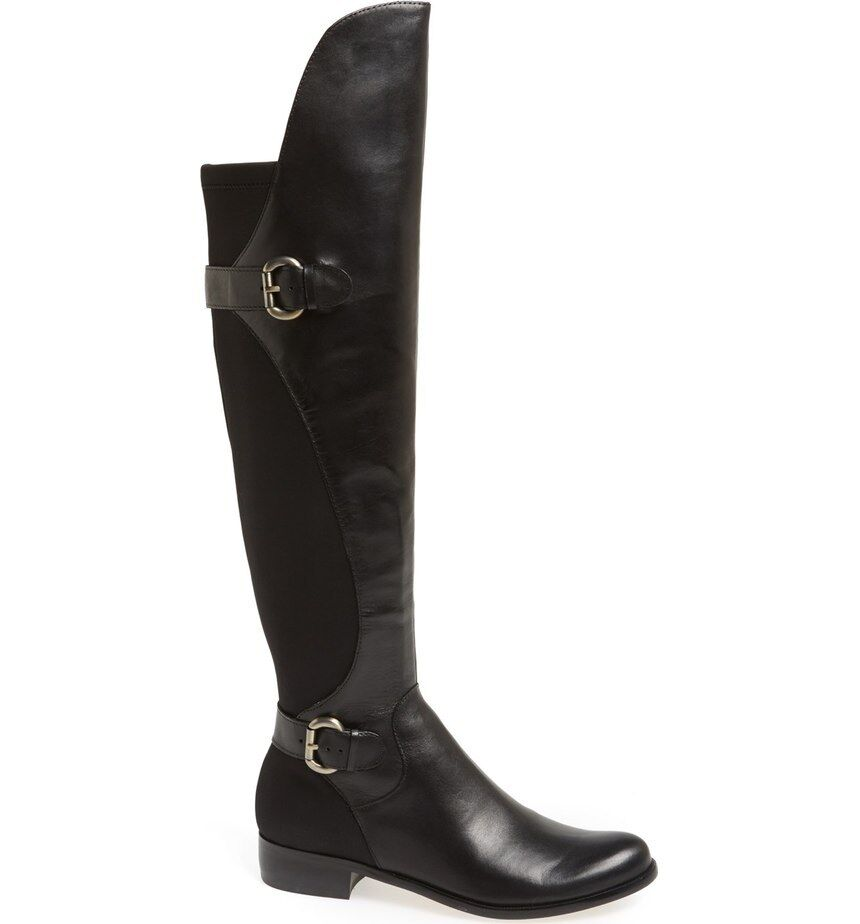 Corso Como Women's Black Moto Splendid Over The Knee Boots Size Size Boots 6.5 $280 5acc5a