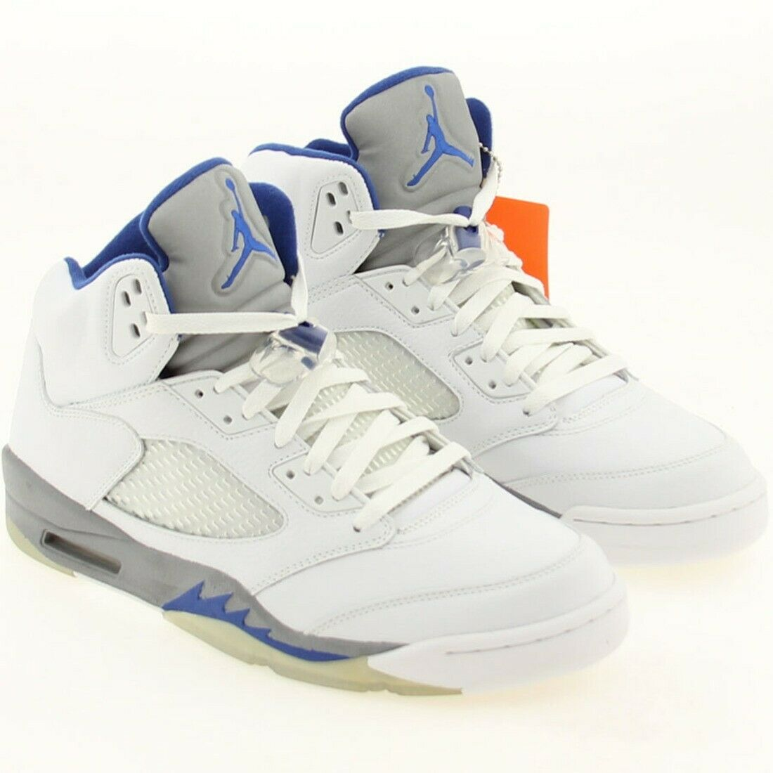 US sz 10.0 AIR JORDAN V 5  RETRO WHITE ROYAL STEALTH MEN SIZE 10.0