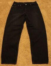 Mens Calvin Klein EASY FIT 36 x 32 Dark Black Jeans actual = 34x32