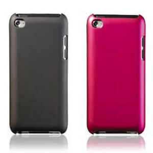 Lot-of-2-IPod-4th-GENERATION-PointMobl-Snap-On-Metallic-Case-Black-Pink