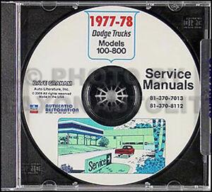 image is loading 1977-1978-dodge-truck-shop-manual-cd-pickup-