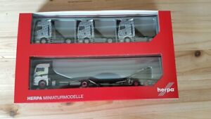Herpa-311984-1-87-Man-Tgx-Xlx-C-Lkw-Transporter-Hz-With-3-Getarnten-Man