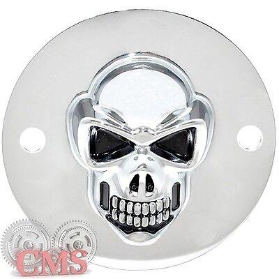 Pointcover Skull HD 3D Skull Ignition Cover Chrome for Harley Davidson 99