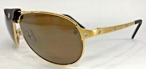 a32e3924ef6 Cartier - T8200889 - Santos Dumont 61mm Gold Men s Rimmed Sunglasses ...