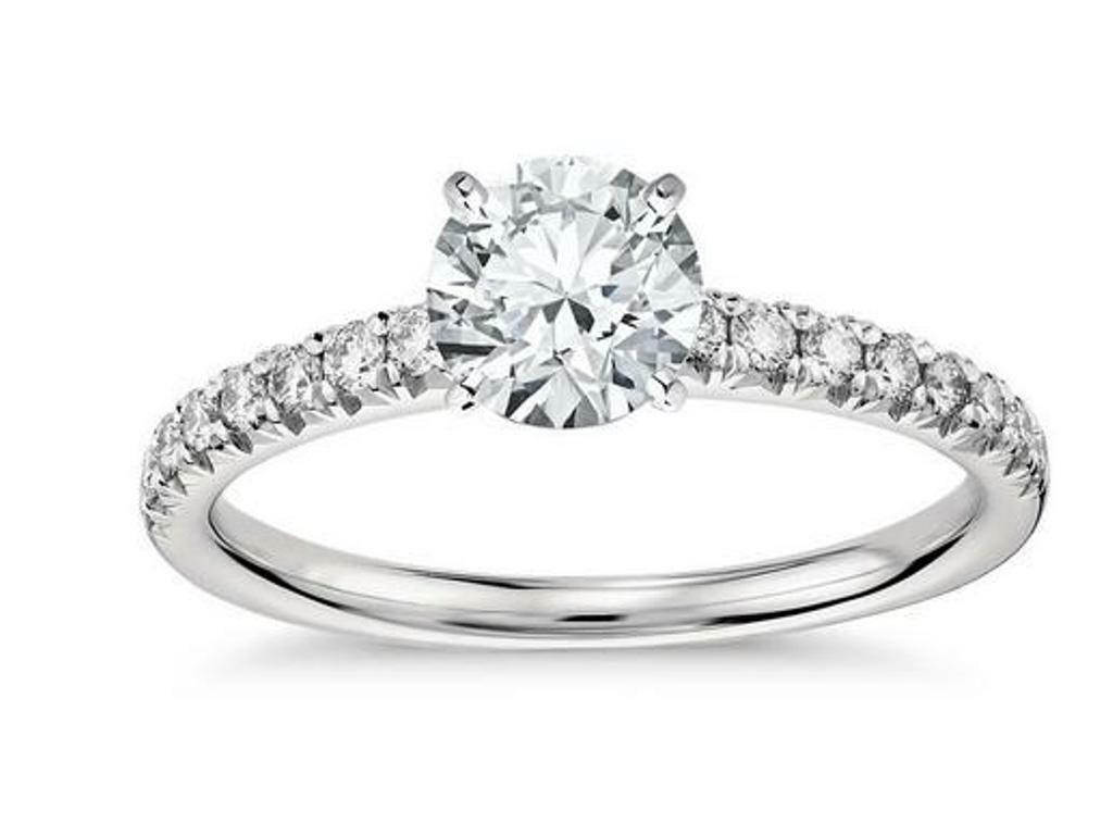 1.53 Ct Round Cut Solitaire Anniversary Engagement Ring Solid 14k White gold