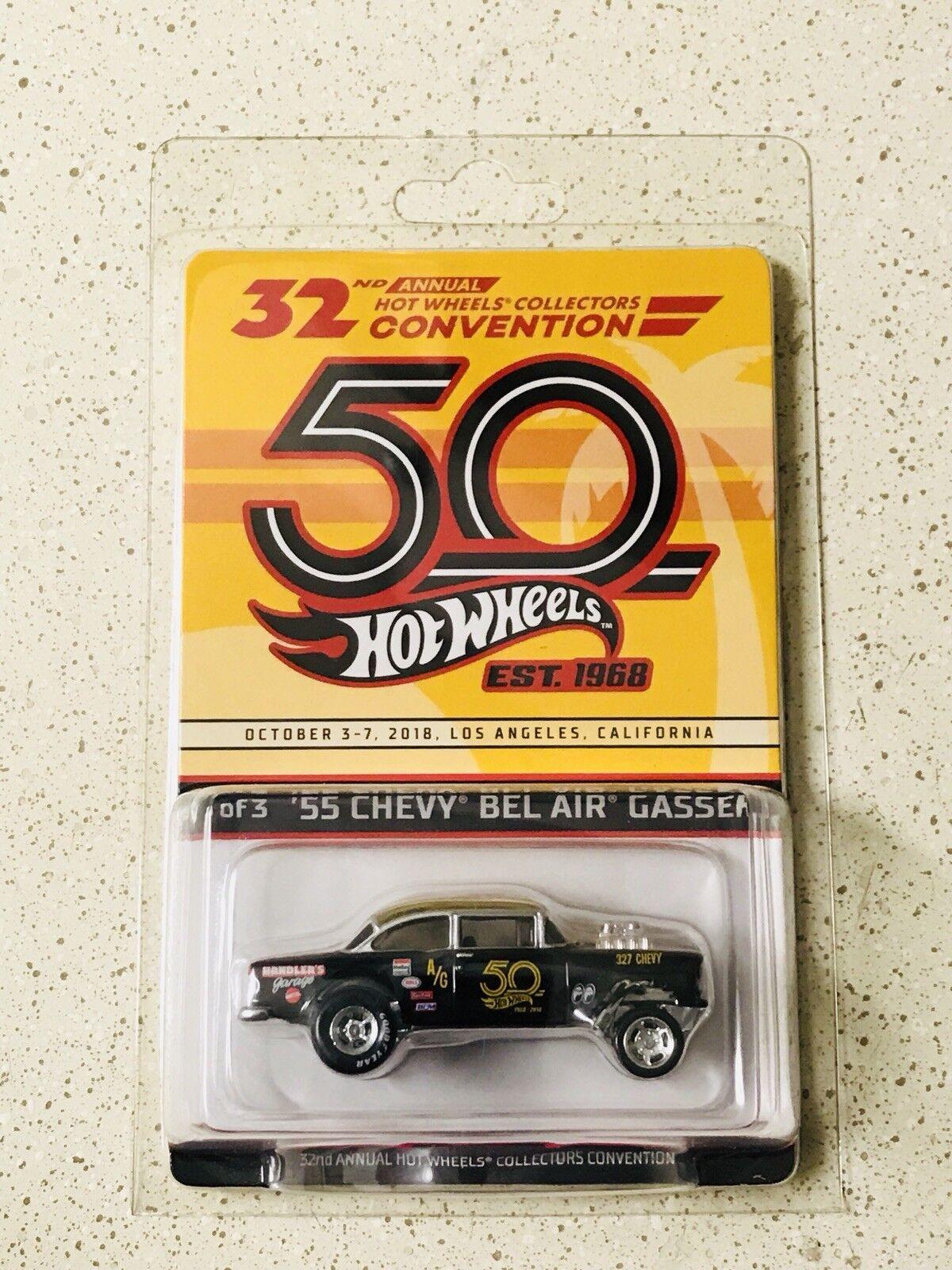 alta calidad 2018 Hot Wheels 32nd convención anual de de de coleccionistas'55 Chevy Bel Air Gasser  se descuenta