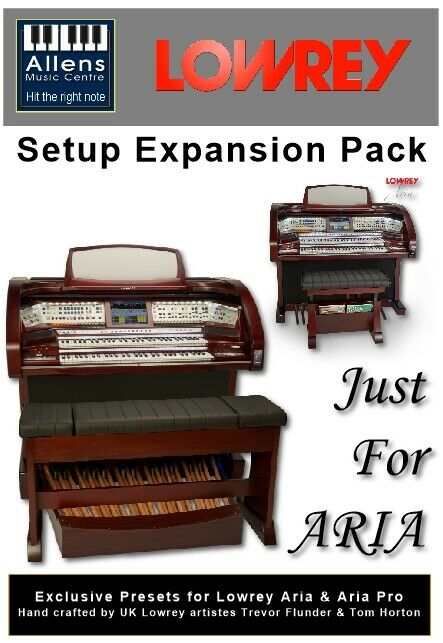 Lowrey Organ USB Preset Software - Just For ARIA