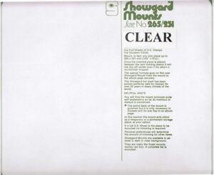 Showgard-Clear-Stamp-Mounts-265mm-231-US-Full-Sheets-Souvenir-Cards-5-Pcs