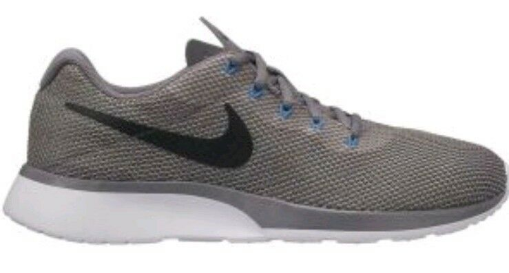 Nike tanjun Racer UK 10 Gris Bleu Blanc 921669 006 Baskets Homme Gunsmoke-