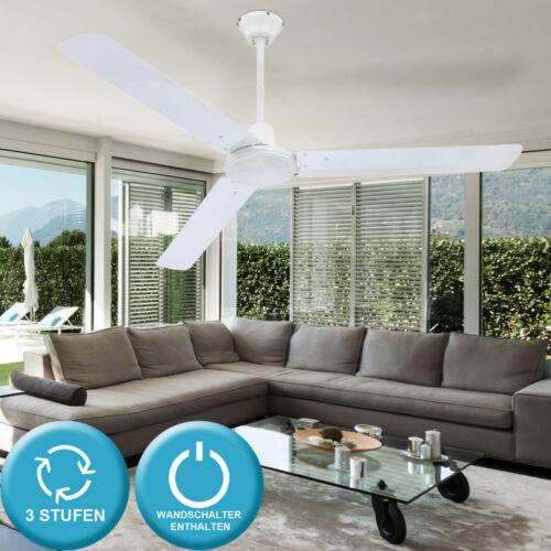 Ventilador de techo con interruptor ventilador blanco máquina del viento ventilador de techo 142 cm