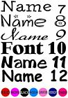 IRON ON TRANSFER 1 PERSONALISED NAME FONT COLOUR LABEL - Light coloured fabric