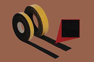 Filzband-6-0-mm-stark-50-mm-breit-schwarz-Meterware-selbstklebender-Filz