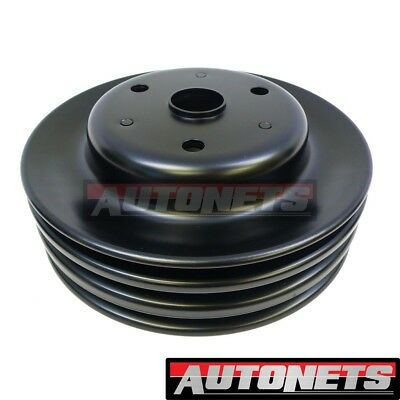 3 Groove V-Belt Long Water Pump Small Block Chevy Crank Pulley,350