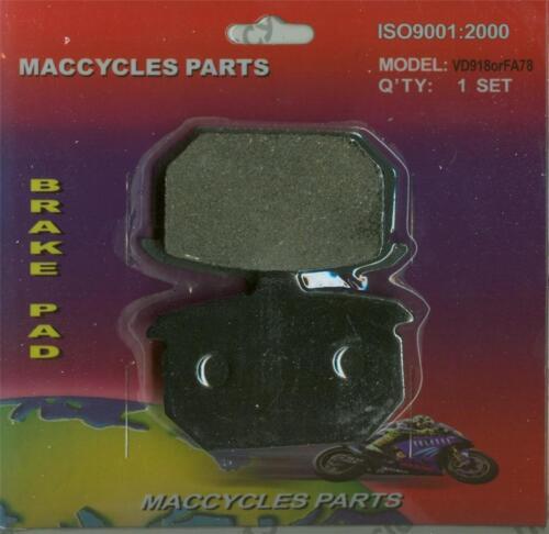 Disc Brake Pads for the Harley FLST Heritage Softail 1986-1987 Rear 1 set