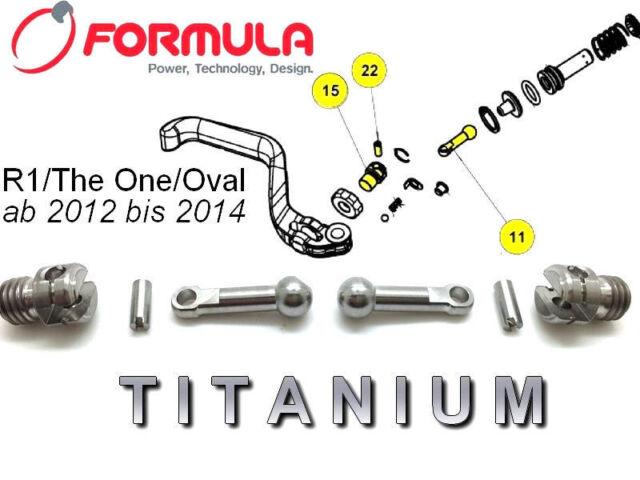 43/% lighter!!! FORMULA Set of Adjusting Screwes inTITANIUM for 2 BRAKE LEVERS