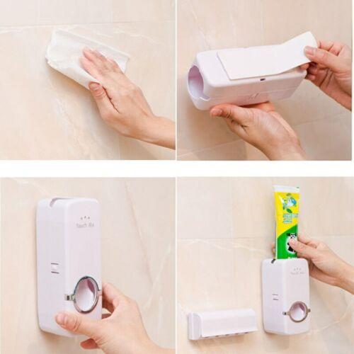 Dispensador Automático Para Pasta De Dientes Y Soporte Cepillos Dental Set Baño