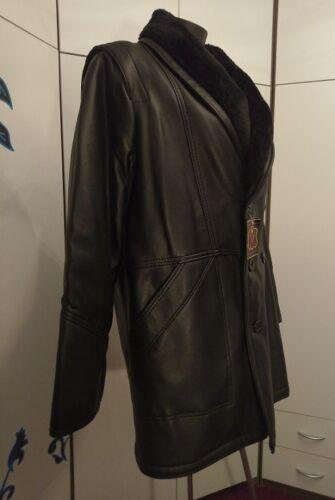 Cuir Noir En Taille En Fabriqué Hiver Simili L Italie Veste Axv8qwC5