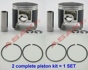 For-PWC-Jet-Ski-YAMAHA-LX-VXR-650-Piston-Kit-STD-6M6-11631-00-Piston-Ring-X2