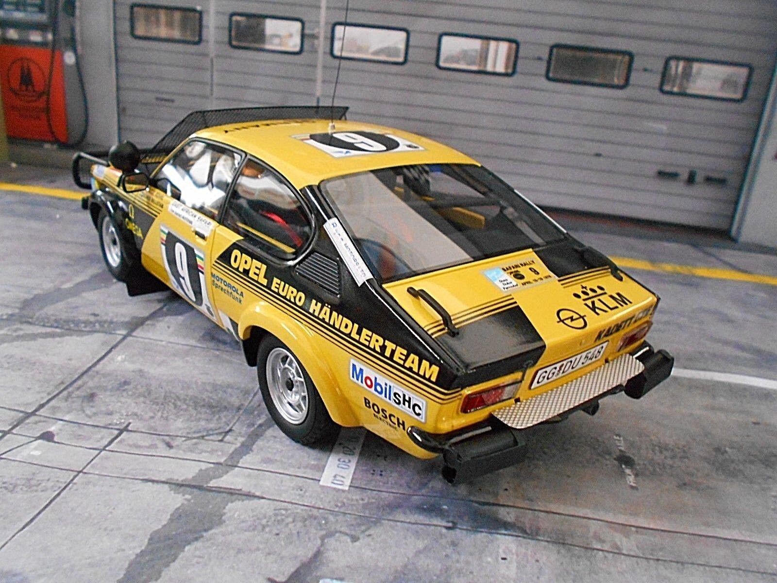 Opel C KADETT KADETT KADETT GT E RALLYE SAFARI AFRICA  9 Röhrl 1976 EURO distributeur Otto 1 18 738a04