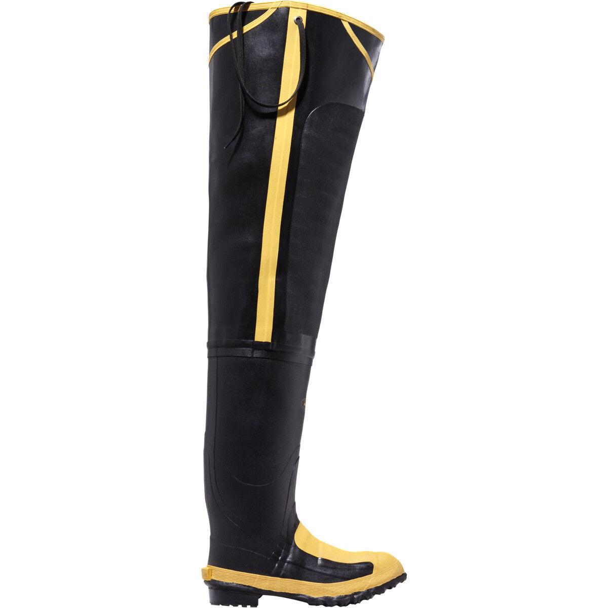 Lacrosse para hombre 24509099 Meta 32  Puntera De Acero Impermeable Negro botas De Goma De Cadera