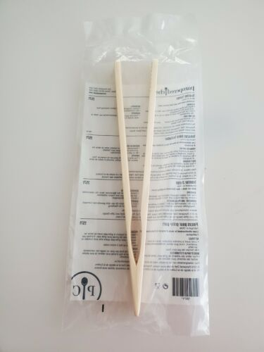 """Pampered Chef 8/"""" Bamboo TOASTER TONGS with ridged edges Keep your fingers safe!"""