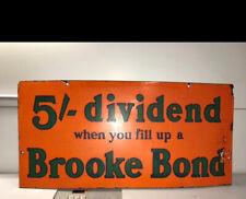 Genuine Original Brooke Bond Tea Enamel Sign
