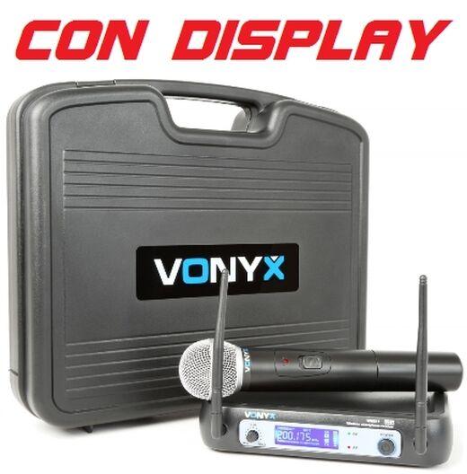 RADIO MICROFONO WIRELESS (senza filo) FREQUENZA vhf  BILANCIATO XLR display