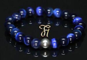 Tigerauge-925er-sterling-Silber-Armband-Bracelet-Perlenarmband-blau-8mm