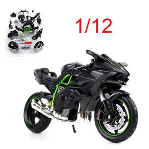 Maisto-1-12-Kawasaki-H2R-Motorcycle-Assemble-Vehicles-Model-Motor-Bike-Toys
