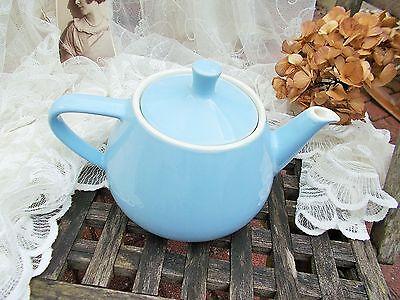 alte groß Teekanne Melitta Minden pastellblau 50-60er Jahre shabby TOP- Zustand