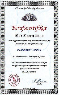 Berufszertifikat mit Ihrem Wunschberuf ( Diplom )***