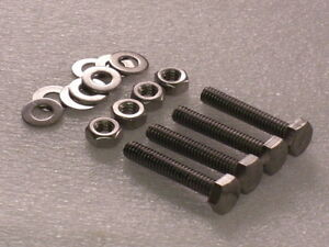 4x 1/4 BSW x 1 1/2 Whitworth Edelstahl Sechskant Schrauben Muttern Unterlegscheiben Kamera/Stativ?