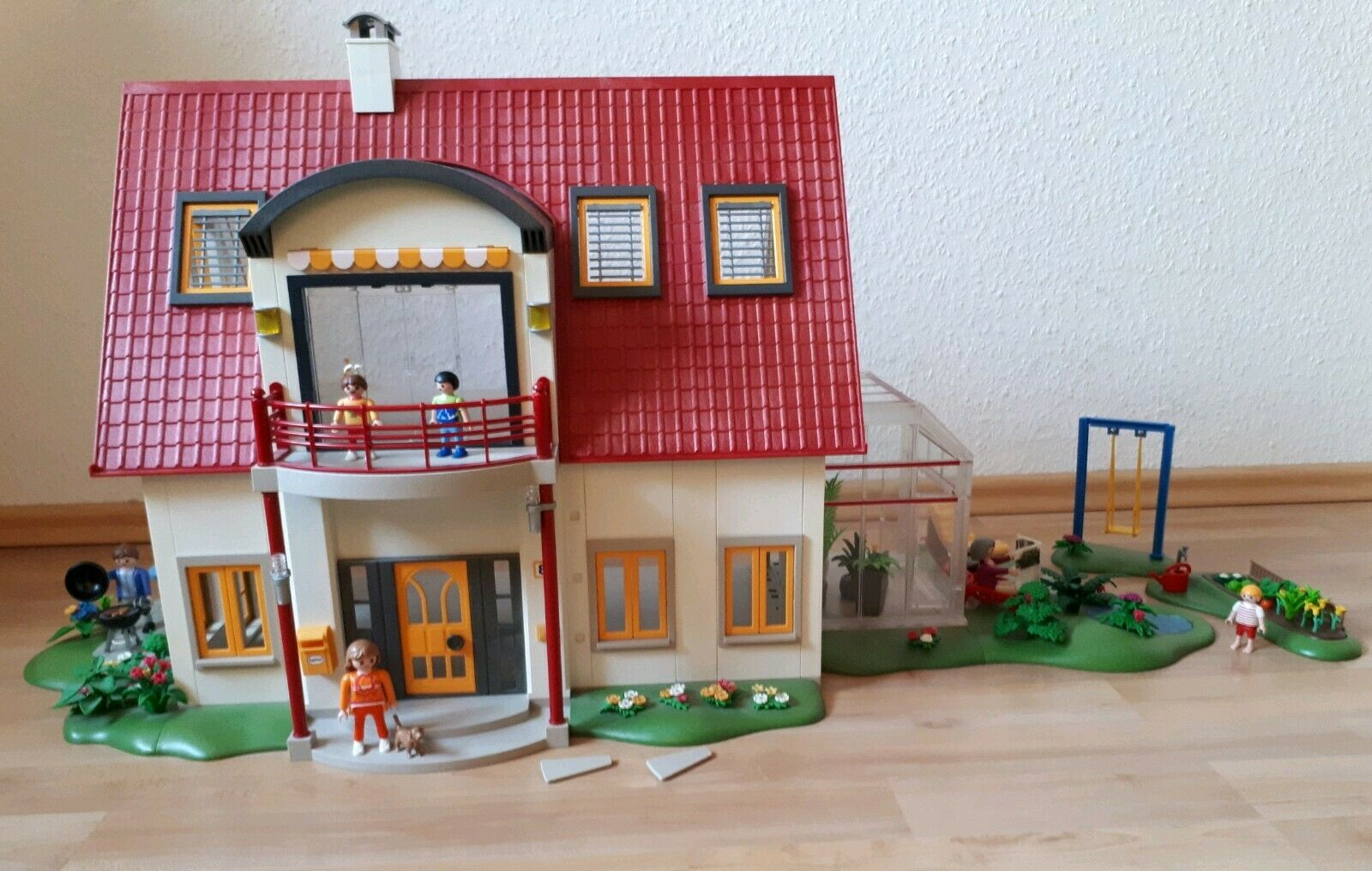 Playmobil großes Wohnhaus 4279 und Wintergarten 4281