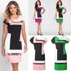 NEW-Women-Summer-Boho-Short-Sleeve-Party-Evening-Beach-Printing-Long-Dress-S-XL
