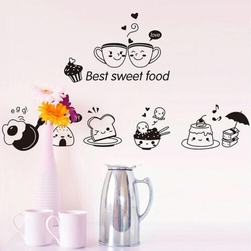 Kitchen Wall Stickers Coffee Sweet Food DIY Wall Art Decal Decoration JC