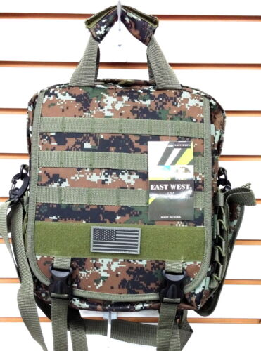 Laptop Backpack Rucksack Tactical Shoulder Messenger Bag Green ACU Molle Design