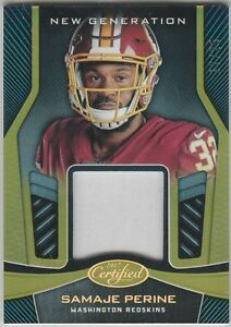 buy online f27d9 92bf5 Details about SAMAJE PERINE NEW GENERATION MIRROR GOLD RC JERSEY #/25 2017  CERTIFIED REDSKINS