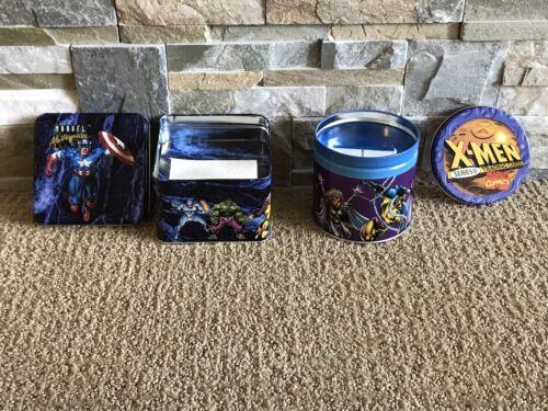 1992 Marvel Masterpieces 1993 X-Men Series 2 EMPTY New Collectors Tin BOTH TINS