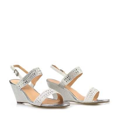 Las nuevas señoras correa de tobillo-fiesta-graduación Sandalias De Tacón Cuña Medio-Bajo Zapatos Talla 3-8