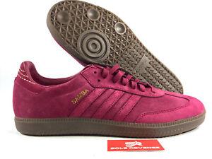 NEW-adidas-Samba-FB-Mystery-Ruby-Red-Gold-Metallic-Mens-CQ2091-Shoes-x1