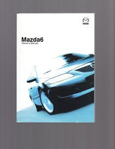 mazda 6 july 2002 on owners manual ebay rh ebay com au mazda 6 2007 owners manual mazda 6 2007 owners manual uk