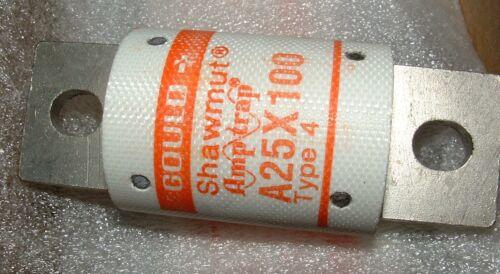 Shawmut a25x100-4 100a fusibile collegamento 250V AC amp-trap Gould Ferraz Marsen Type-4