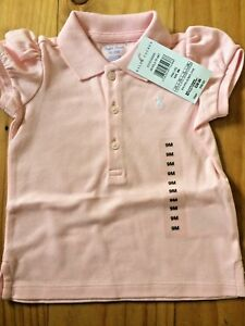 8449fe4d Details about Ralph Lauren Baby Girl Polo T Shirt Top 9 Months New With  Tags BNWT Pink Gift
