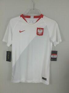 Details zu Nike #29698 Trikot Polen Heim WM 2018 Fußball Trikot Kinder L 147 158 cm Weiß