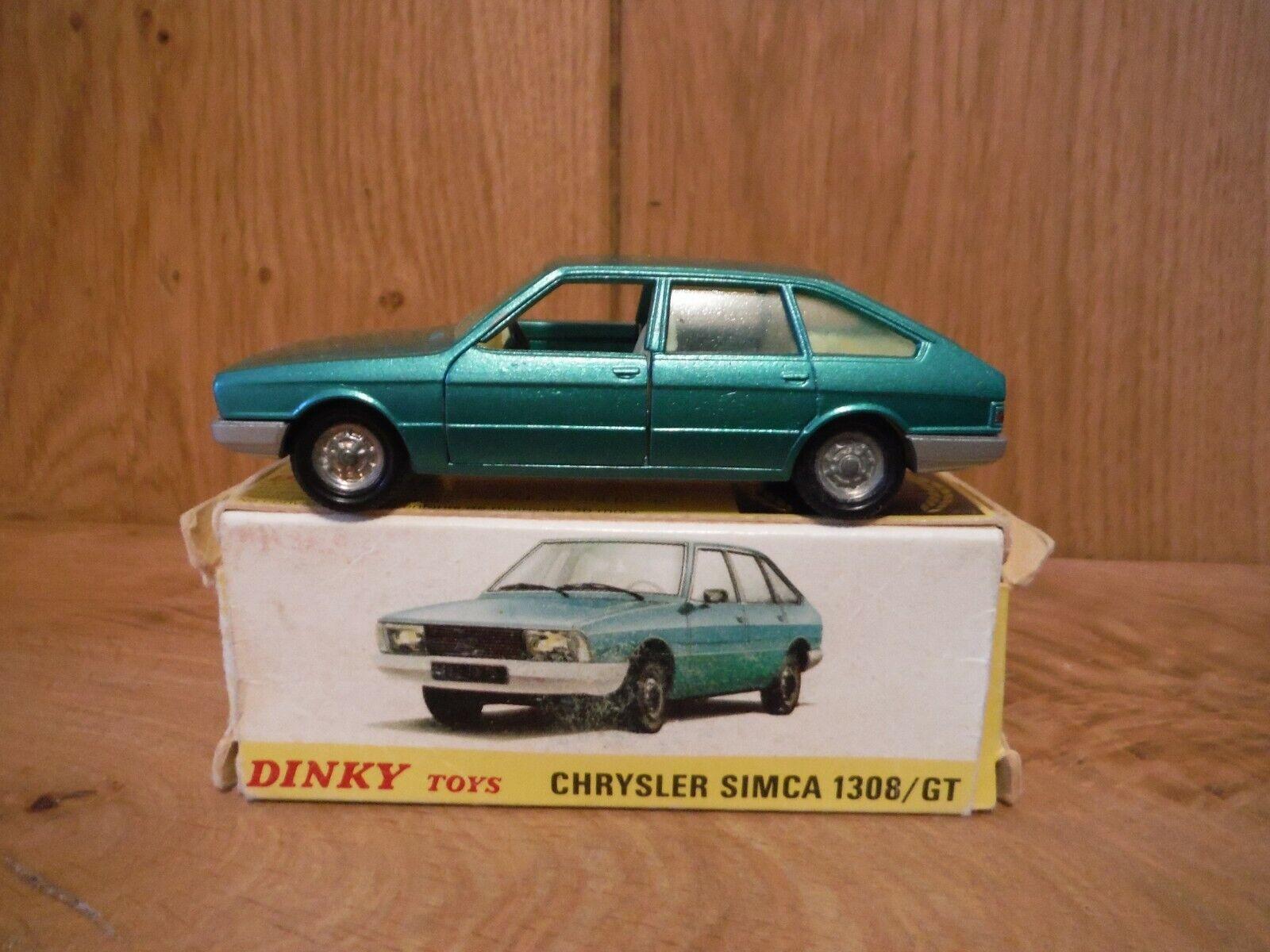 Espagnol dinky 011542 CHRYSLER 1308 GT-vert en boîte